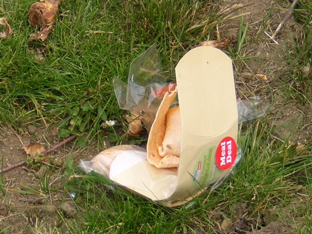 Rubbish in industrial estate
