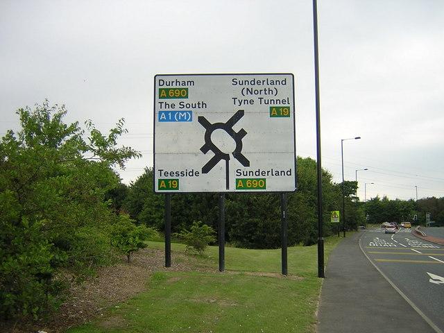 A19 road sign