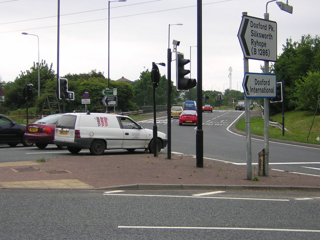 A19 roundabout entrance to Doxford International
