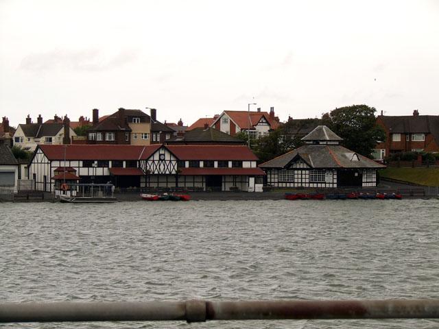 Buildings beside Fairhaven lake