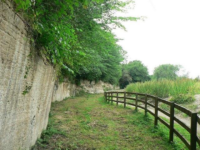 South end of quarry face, Quarry Moor, Ripon