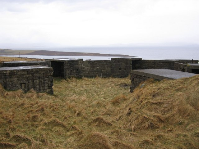 WW2 Military installations on Burray