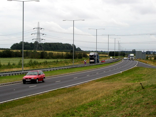 The A46 near to Brough