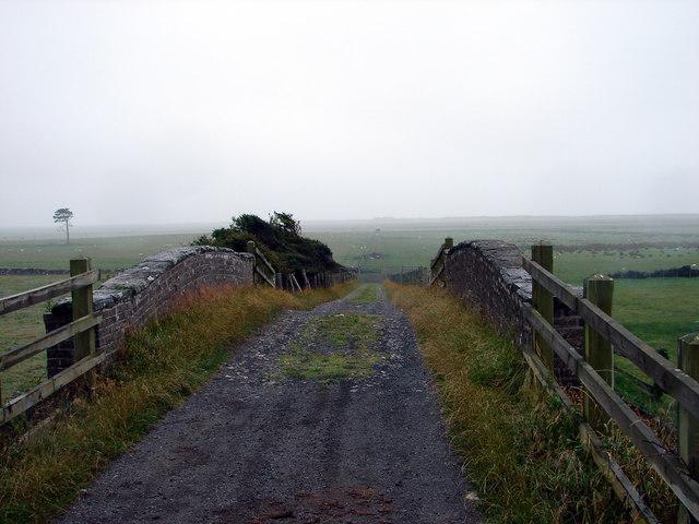 Track Over Railway Bridge, Escuan, Near Tywyn