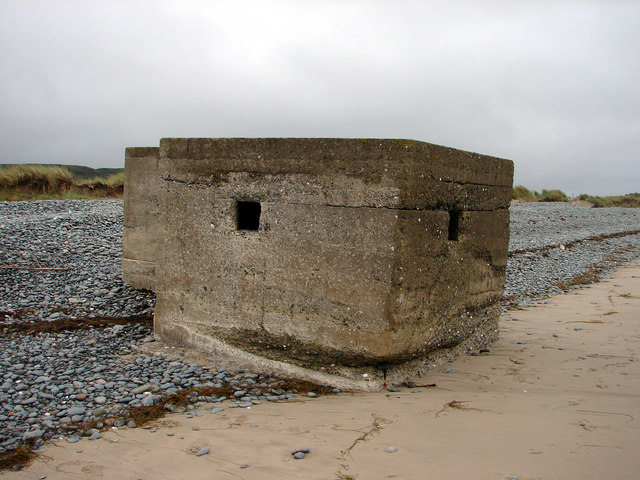 Pillbox on the beach near Tywyn
