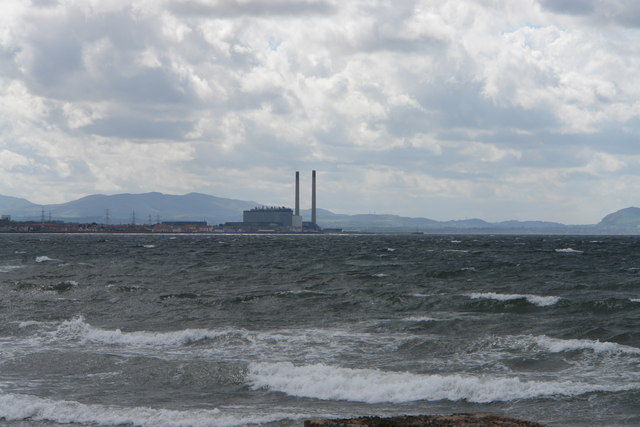 Cockenzie Power Station from Longniddry Bents No 1 car park