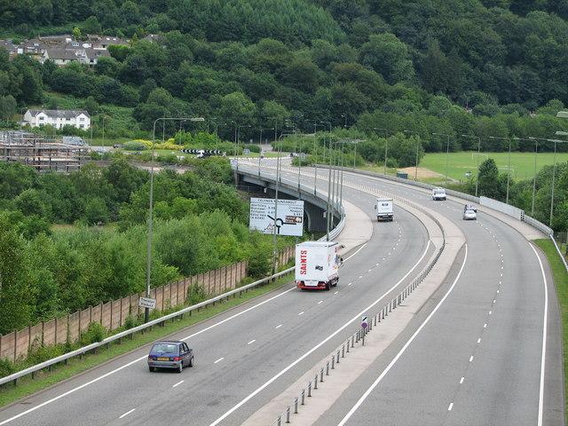 Celynen roundabout A472 / A467