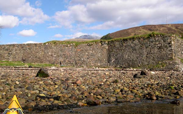The walls of Fort William