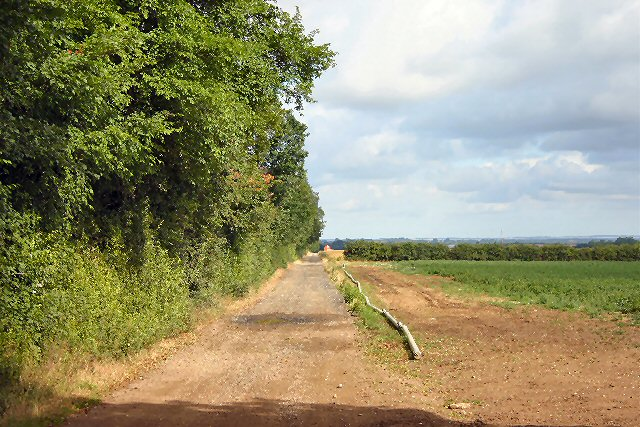 Farm track near Duxford Grange