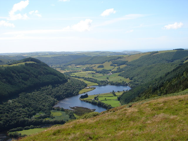 Rheidol Valley viewed from Castell Bwa-drain