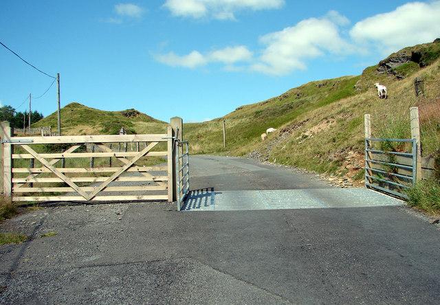 Cattle Grid near Ystumtuen