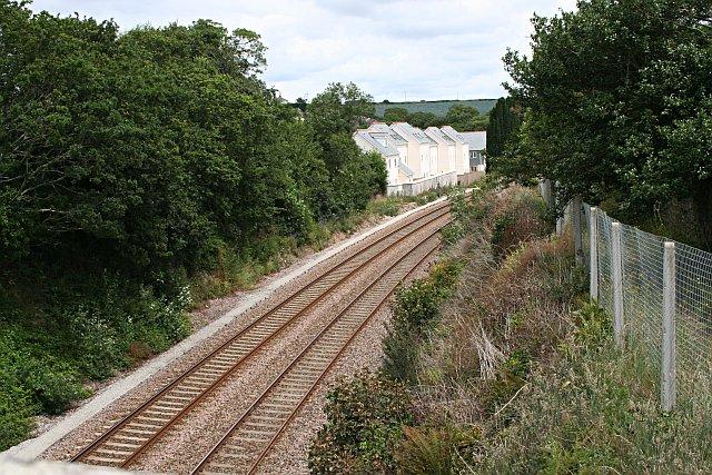 The Railway Line through Grampound Road