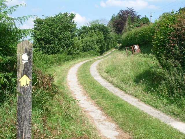 Offa's Dyke path at Lower Harpton
