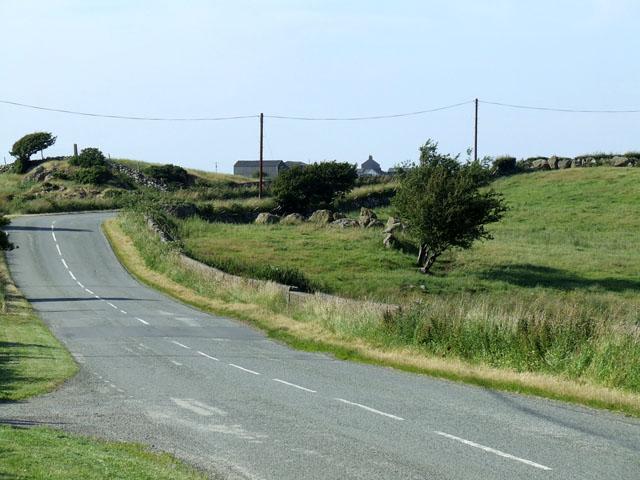 Roadside Scene at Pont Rhydydefaid