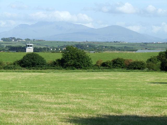 Field alongside the airfield