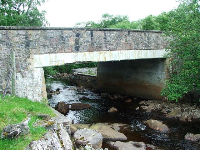 Bridge over the Strath Rannoch River