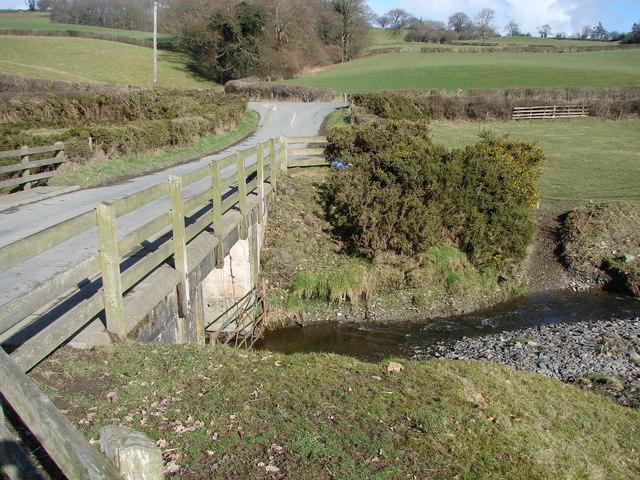 Bridge over the Colwyn Brook, near Caersws