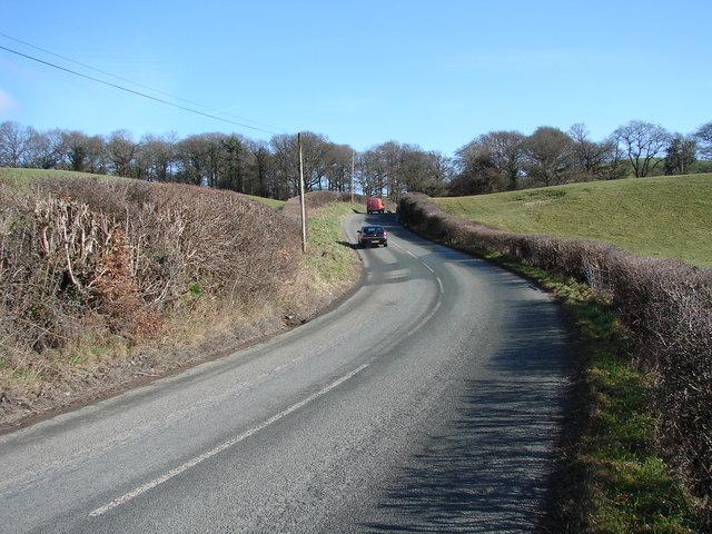 B4569 Road between Caersws and Trefeglwys