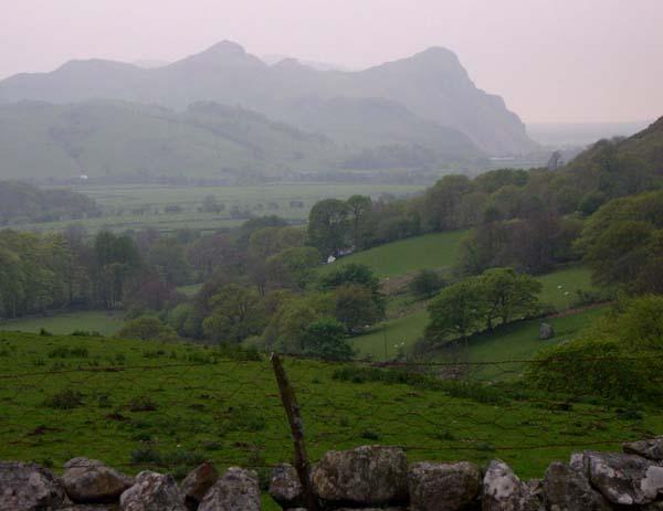 Above Afon Cadair