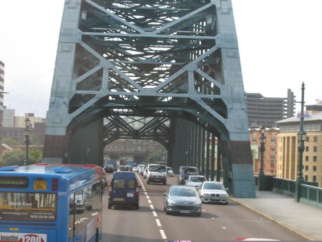 Southbound on Tyne Bridge