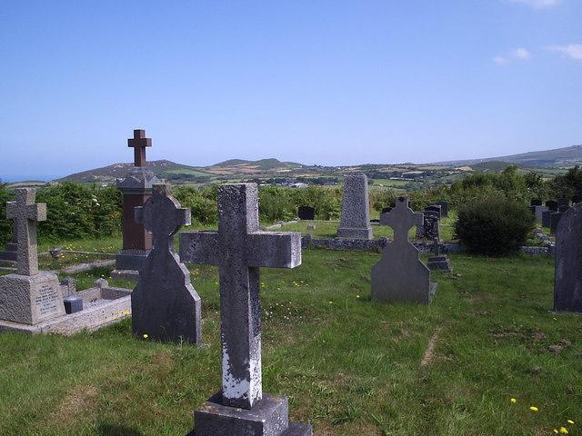 Burial ground near Fishguard
