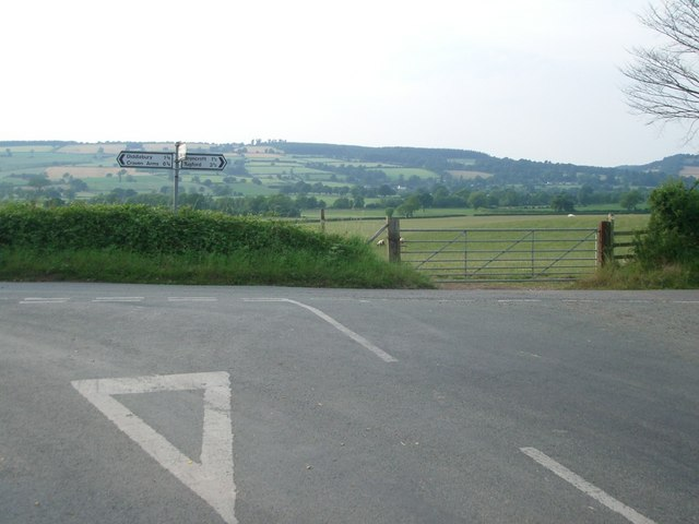Road junction near Peaton