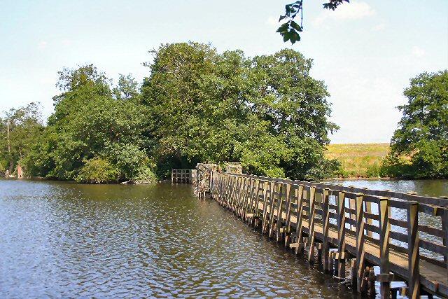 Footbridge at Ampton Water