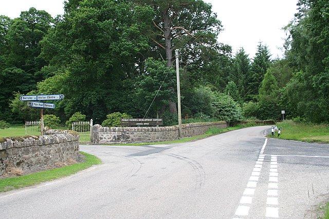 Road junction 2km north of Darnaway Castle.