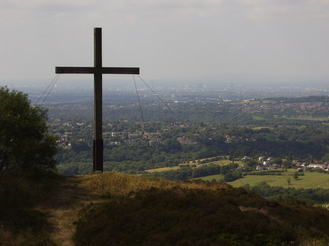 Cross on Top of Mellor Moor