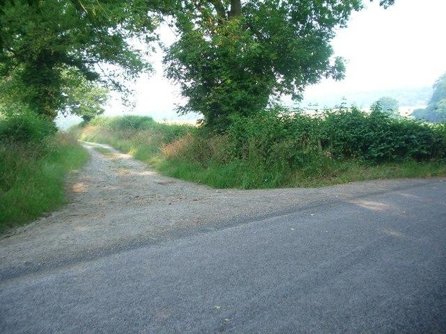 Bridleway meets lane