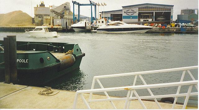 """""""Sunseeker"""" Boatyard, Poole."""