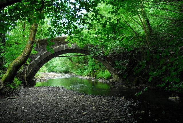 Stone bridge over the River Dulais at Crynant