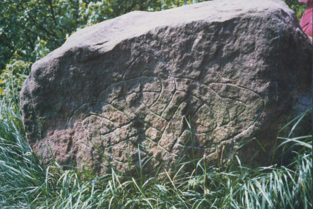inscribed stone at Pitts