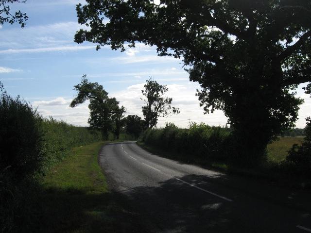 Wheldrake Lane approaching Escrick