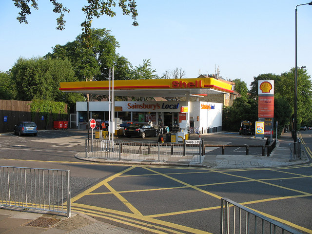 shell service station pages lane martin addison geograph britain and ireland. Black Bedroom Furniture Sets. Home Design Ideas