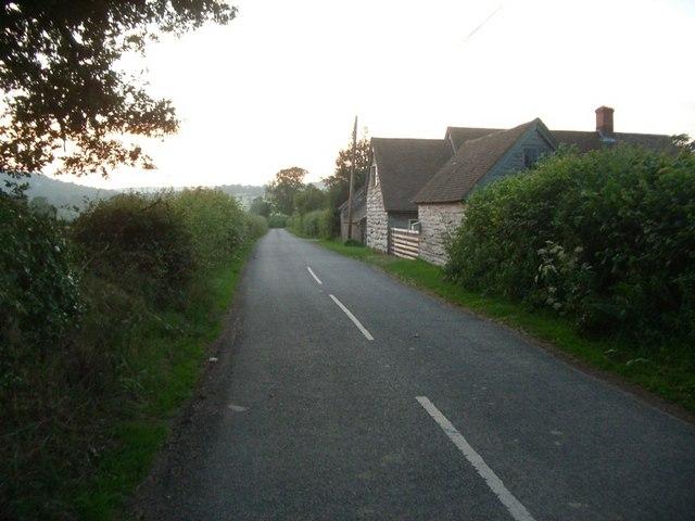 The lane between Beambridge and Broncroft