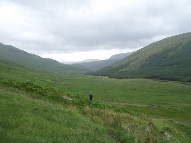 The path from Glen Dessary to Loch Nevis