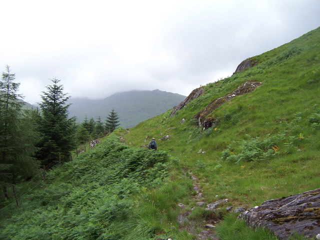The path from Glen Dessary to Loch Nevis.