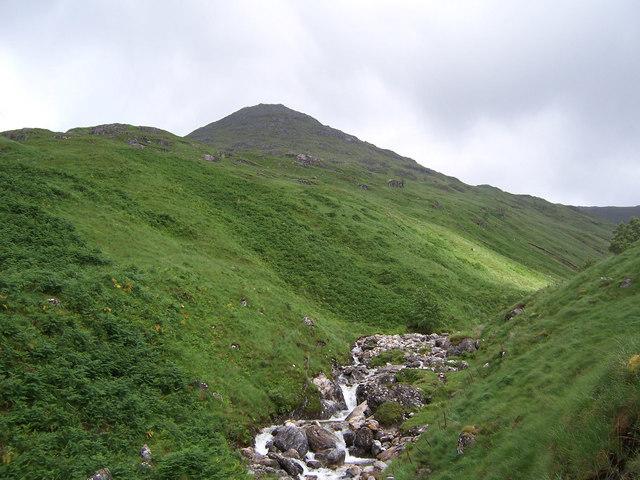 The south ridge of Sgurr nan Coireachan.