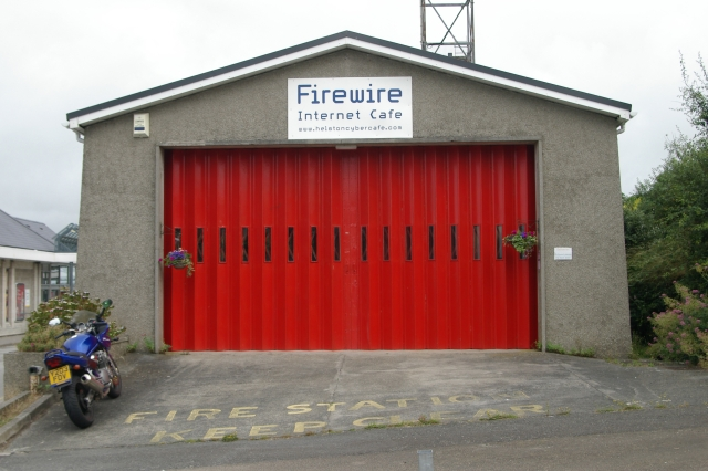 Helston old fire station, now Firewire internet cafe