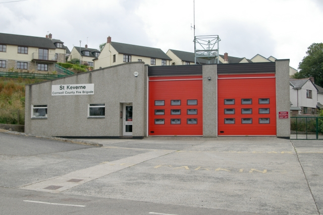Updated view of St Keverne fire station