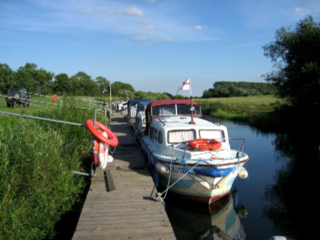 Boat Moorings at The Breighton Ferry