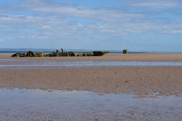 Gullane Sands at Low Spring Tide