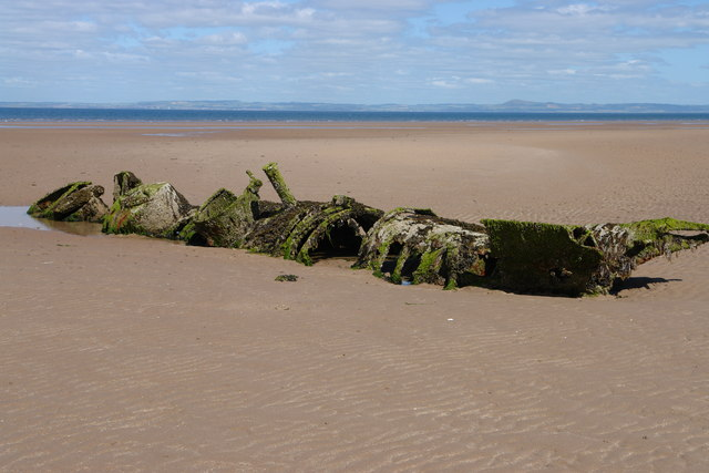 Abandoned Miniature Submarine in Aberlady Bay