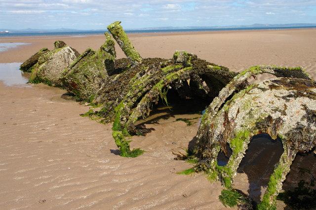 Remains of Miniature Submarine.
