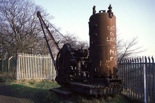 Steam crane at Mount Sion
