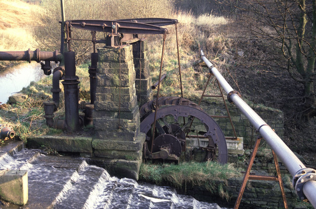 Water powered beam pump, Mount Sion