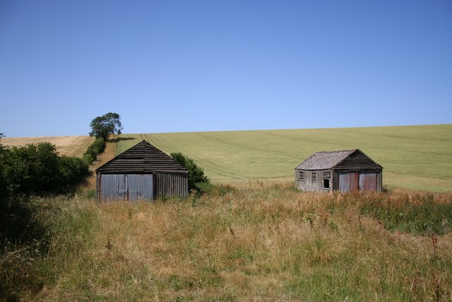 Disused farm buildings in the wolds