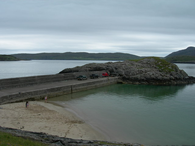 Talmine Pier looking towards Eilean Creagach
