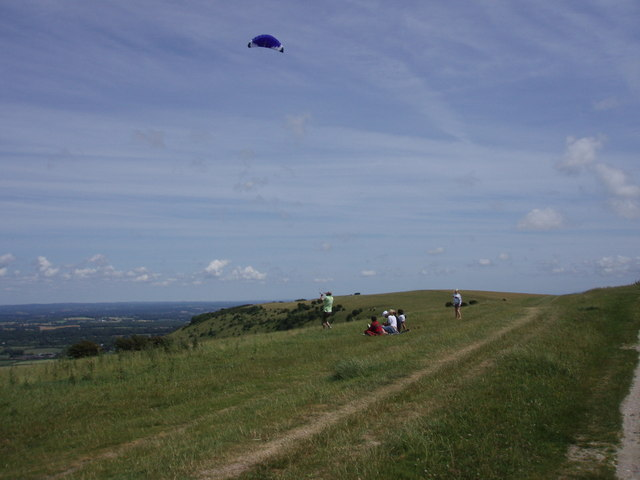 Kite flying: Ditchling Beacon
